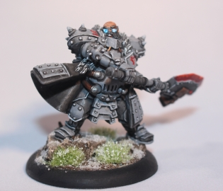 """Brent as Himself"" a lightly converted Khador Butcher from Privateer Press' Warmachine"