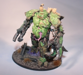 A converted Nurgle Demon Engine for GW's Warhammer 40k