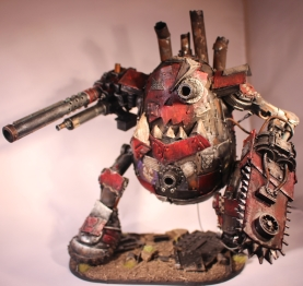 Deff Krumpany's Stompa Da Tater Titan, converted from a Mr. Potato Head for GW's Warhammer 40k