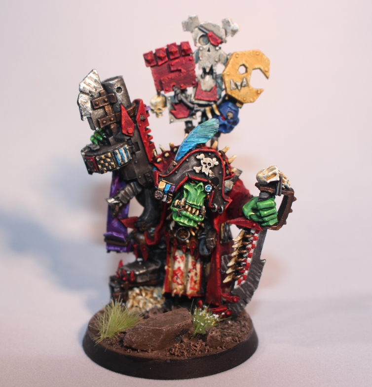 Kaptin Badrok Ork Freebooter Pirate for GWs Warhammer 40k
