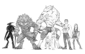 """""""Gods & Monsters: Varied Entities"""" Everyone shown in the image has a life in my fantasy universe, """"Gods & Monsters"""". Those shown are just a handful of the ever-growing cast of characters that exist. There are beings ranging from werewolves and vampires to humans and pure darkness."""